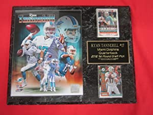 Ryan Tannehill Miami Dolphins 2 Card Collector Plaque w 8x10 Photo by J & C Baseball Clubhouse