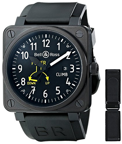 Bell & Ross Men's BR01-97CLIMB Flight Instruments Analog Display Swiss Automatic Black Watch