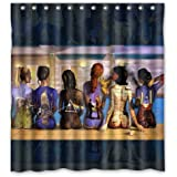 "Pink Floyd Design Christmas Gift Design of Waterproof Bathroom Fabric Shower Curtain with 12hooks 66""x72"" inch"
