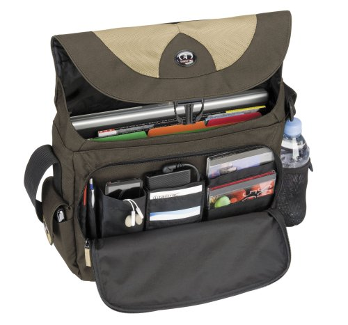 Tamrac Borsa per PC con Schermo Fino a 15,4 Pollici, Light PC Messenger, Marrone