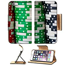 buy Apple Iphone 6 Plus Iphone 6S Plus Flip Pu Leather Wallet Case Poker Chips Stacked In A Row Image 34605964 By Msd Customized Premium