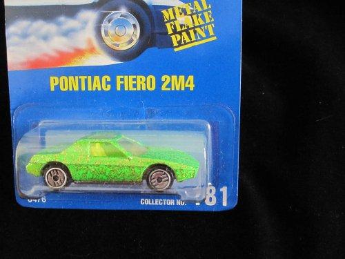 Hot Wheels Pontiac Fiero 2M4 #181 All Blue Card Green Flake with Ultra Hot Wheels - 1