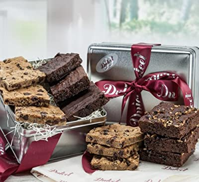 Dulcet Gourmet Food Gift Basket, Great Gift - Includes: Chocolate Brownies, Walnut Brownies, Chocolate Chip blondes, ideal gift idea
