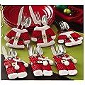 Ghope Sankt-Klage-Weihnachtssilberhaltertaschen Kleine Taschen der Kleidung und Besteck Supplies Praktische Home for Christmas