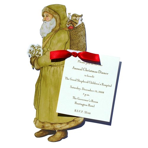 Green St. Nick Die-Cut Card, Pack Of 10 front-1055874