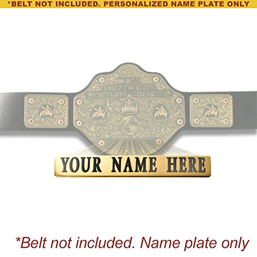 Personalized Nameplate for Adult WCW World Heavyweight Championship Replica Belt