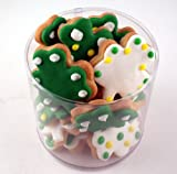 St. Patrick's Day Mini Shamrock Decorated Cookies