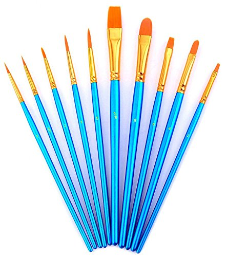 youshares-10pcs-art-paint-brush-set-for-watercolor-oil-acrylic-paint-craft-nail-face-painting