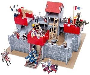 chateau fort bois 58x52x31 cm jeux et jouets. Black Bedroom Furniture Sets. Home Design Ideas