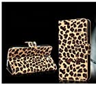 Wallet Leopard Skin Flip PU Leather Pouch Stand Case Cover For Smart Mobile Cell Phones (Huawei Ascend Mate2 4G)