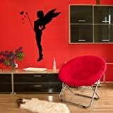 Fairy & Wand Wall Sticker / Vinyl Art Transfer / Large Graphic Decor / Decal X82