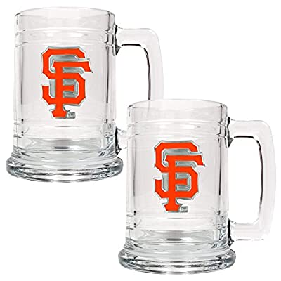 MLB Two Piece 15-Ounce Glass Tankard Set- Primary Logo