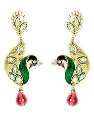 Shining Diva Ethinic Peacock Designed Hanging Earrings For Women