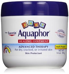 Aquaphor Baby Healing Ointment Diaper Rash and Dry Skin Protectant, 14 oz Jar