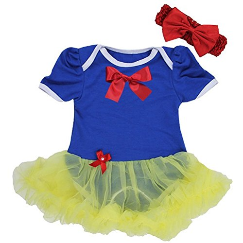 Baby Girls' 2 Piece Red Blue Yellow 1st Birthday Onesie Tutu Outfit