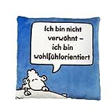 Sheepworld 42388 Plüschkissen Verwöhnt