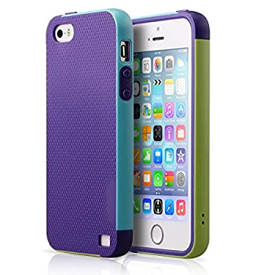 iPhone 5 Case,iPhone 5S Case, BENTOBEN Apple Slim Case Hybrid iPhone 5 Cases Hard PC Bumper Shockproof Shell Soft Premium TPU Dual Layer Anti-Scratch Cover for iPhone 5 5S by BENTOBEN