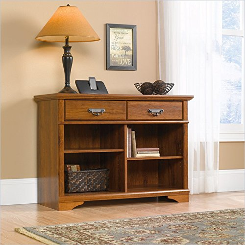 Sauder Harvest Mill Console Table, Abbey Oak Finish back-718334