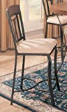 Prunella 24 Counter Height Chair In Red Bronze (Set of 2) by Coaster Furnit ....