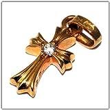 クロムハーツ(CHROME HEARTS)ベイビーファットチャーム・22Kゴールドダイアモンド・ボスサイド