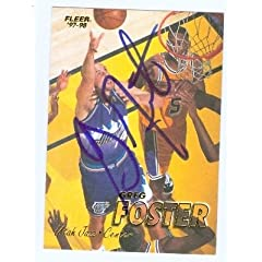 Greg Foster Autographed Hand Signed Basketball Card (Utah Jazz) 1998 Fleer #230 by Hall of Fame Memorabilia