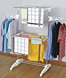 NOVICZ Foldable Cloth Hanger Dryer stand, Laundry Drying rack, Dress Display Stand and Garments Rack Stainless Steel