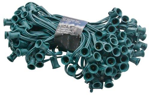 American Lighting Xc710012-Gr Seasonal Lighting Stringer For C7 Bulbs, Green, 100-Feet