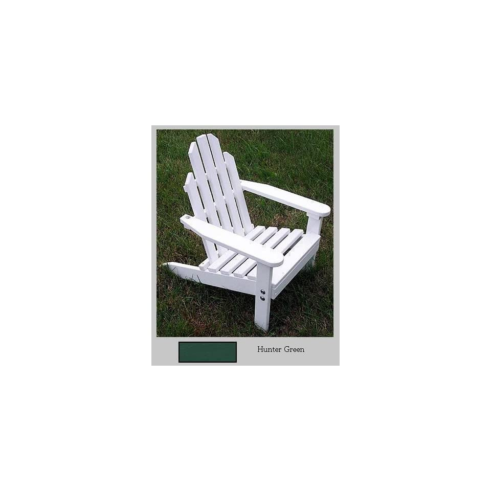 Prairie Leisure Design 83 Hunter Green Kiddie Adirondack Chair