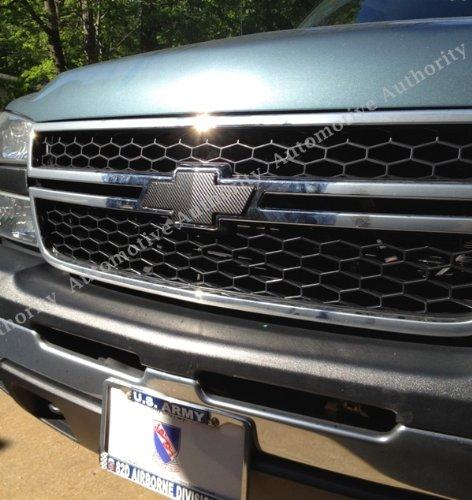 Carbon Sticker Check Out Chevrolet Silverado Black - Chevy silverado bowtie decal