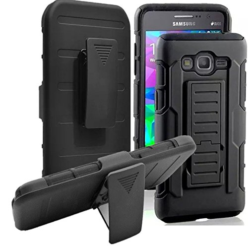 Galaxy S3 Case, Asstar Holster Case, New Generation Rugged Hybrid Dual Layers Armor Case with Kickstand and Belt Swivel Clip for Samsung Galaxy S3 S III I9300 GS3 All Carriers (Black) (Bottle Opener Case For Galaxy S3 compare prices)