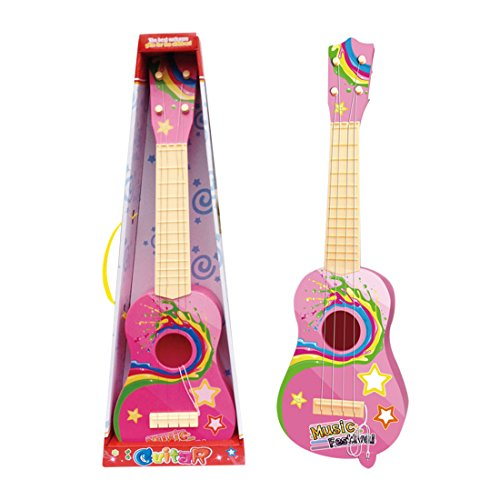 Mini-Guitar-WOLFBUSH-Multi-function-Cute-Cartoon-4-String-Mini-Guitar-Kids-Musical-Instruments-Educational-Toy-Children-Used-for-Family-Gatherings-Performances-Entertainment-Pink