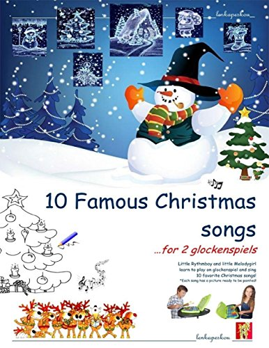 Ten Famous Christmas Songs for Two Glockenspiels