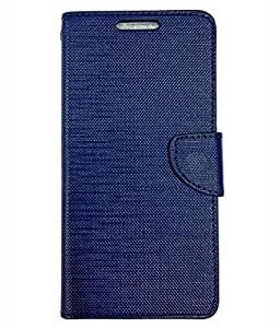 Ceffon Flip Cover Case For Reliance Jio Lyf Wind 2-Blue