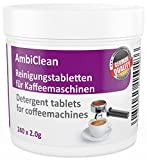 Cleaning tablets for coffee machines 240 tablets weighing 2.0 g - compatible with coffee and Espresso machines, as well as drinks machines by following brands Jura, WMF, Saeco, Bosch, Siemens - Made in Germany - Buy the product without risk