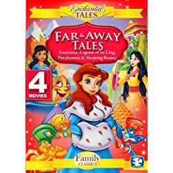 Far and Away Tales(4 Disc Set)-Anastasia, Pocahontas, Legend of Su Ling, Sleeping Beauty
