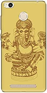 The Racoon Grip Gold Ganesh hard plastic printed back case/cover for Xiaomi Redmi 3S Prime / Xiaomi Redmi 3 Pro