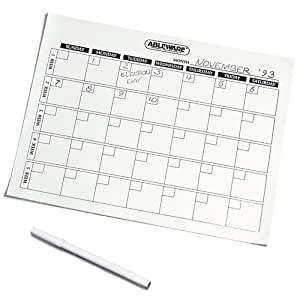 Ableware 718110000 Write On/Wipe Off Generic Calendar
