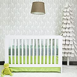 Pam Grace Creations 2 Piece Chevron Basics Crib Bedding Set, Blue