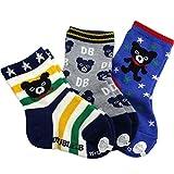 ダブルB(mikihouse) 3Pソックスパック 3足クルータイプ 靴下 11-13cm ブルー(15) ランキングお取り寄せ