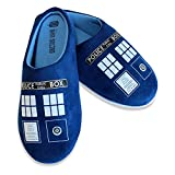 Mens Ladies Doctor Who Tardis Slippers