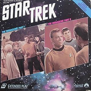 Star Trek Original Television Series,NEW LASER DISC The Menagerie Part I and Part II, Starring William Shatner, Leonard Nimoy, Deforest Kelley, Jeffery Hunter, Susan Oliver, Malachi Throne