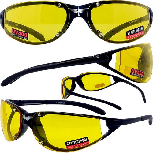TERMINATOR YELLOW TINT BIKER SUNGLASSES