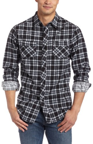 Quiksilver Mens Aldus Long Sleeve Flannel Shirt