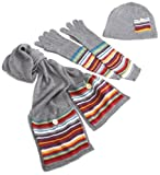 51mJzXOIOTL. SL160  Threads Womens Pocket Stripe Scarf, Glove, Beanie Set