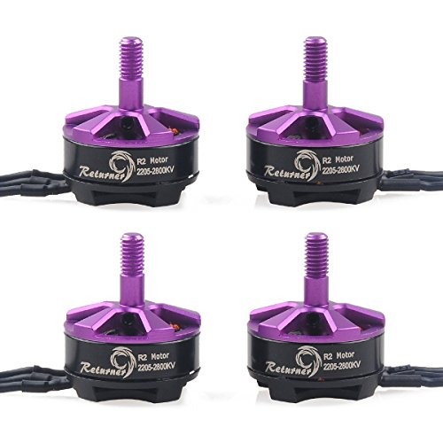 Crazepony 4pcs Brother Hobby Retuner 2205 2800KV Brushless Motor for QAV250 FPV Racing Quadcopter (Brushless Motor 2800kv compare prices)