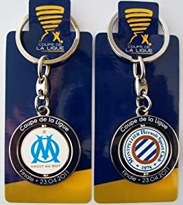 Porte clé officiel OLYMPIQUE DE MARSEILLE OM / MONTPELLIER - Football Finale Coupe de la Ligue