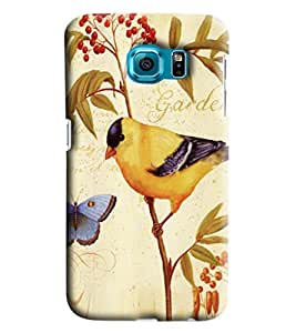 Blue Throat Garden With Bird And Butterfly Printed Designer Back Cover/Case For Samsung Galaxy S7