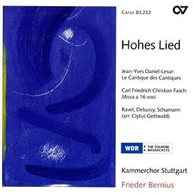 Choral Concert: Stuttgart Chamber Choir - Daniel-Lesur, J.Y. / Ravel, M. / Debussy, C. / Fasch, C.F.C. / Schumann, R.
