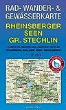 Rad - Wander- und Gewässerkarte Rheinsberger Seen, Großer Stechlin: Mit Canow, Kleinzerlang, Flecken Zechlin, Rheinsberg, Dollgow, Menz, Neuglobsow. ... Gewässerkarten Mecklenburgische Seenplatte)