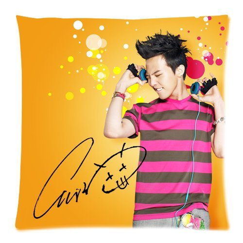Personalized Home Bedding Pillowcase Korea Hot Singer Fashion Icon G-Dragon Cool Picture One Side Rectangle Pillowcases Standard Size 18X18-1 front-1055206